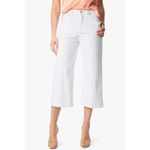 7 For All Mankind White Cropped Dojo Jeans